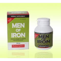 Men Of Iron Sexual Enhancer Herbal Supplement For Men (500Gm) - 40 Capsules