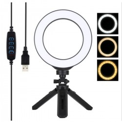 Mini Tripod Stand K-315 ring lamp Dimmable mobile light selfie light